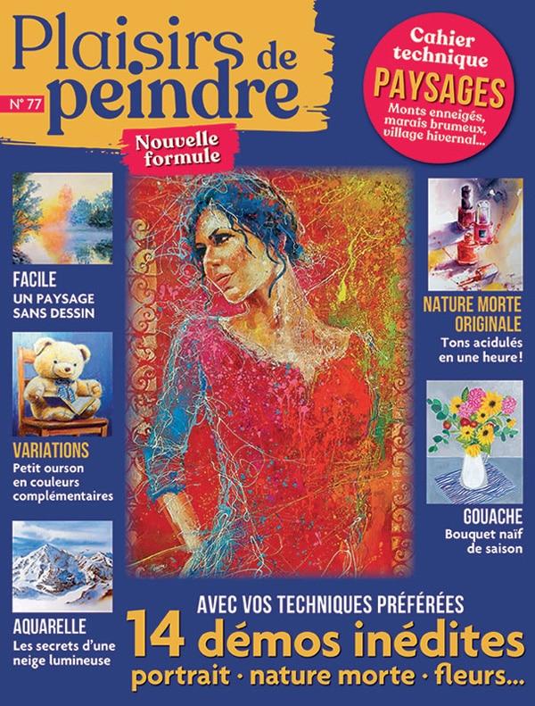 couverture du magazine plaisirs de peindre numéro 77