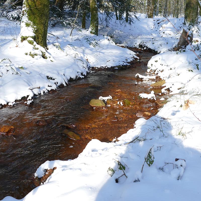 photo neige ruisseau mine