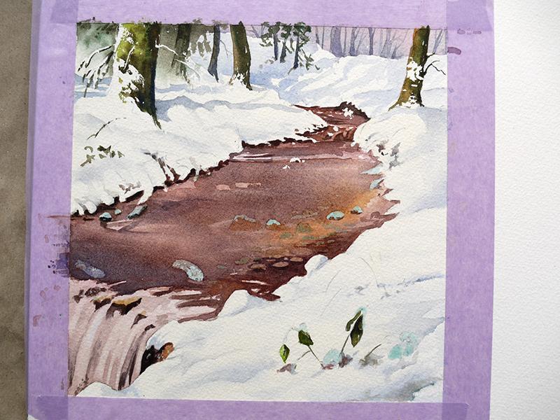 faire apparaitre la neige grace aux ombres