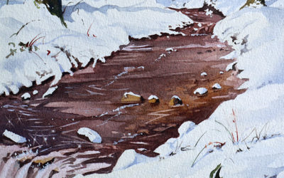 Neige au ruisseau de la mine