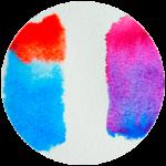 vignette de taches de mélanges de couleurs