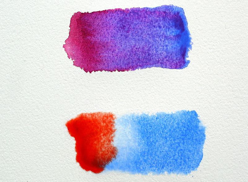 taches mélanges de couleurs aquarelle